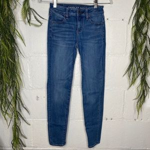 AEO Jeggings Medium Blue Wash Denim Size 00 Short